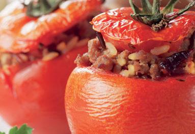 Tomates farciesau Bœuf Paysépicé tandoori