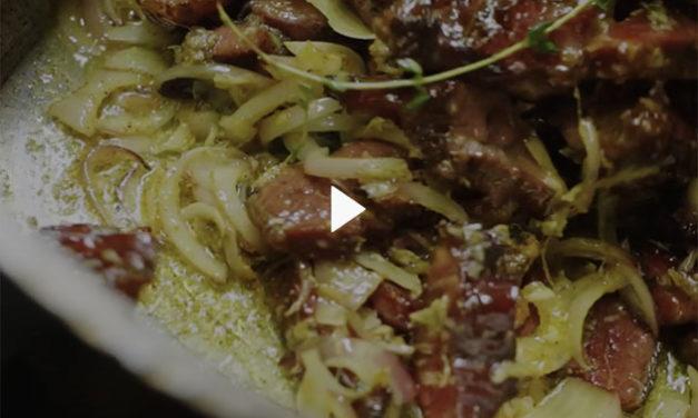 Lentilles de Cilaos au boucané de Bœuf Pays recette de Jacky, chef du Far Far Kréol